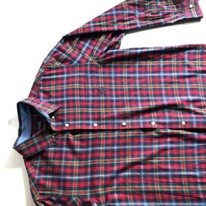 Chaps red Multicolor men's Shirt Sz Large